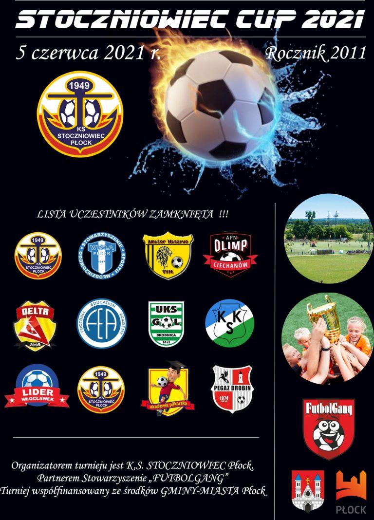 Przypominamy już 5 czerwca STOCZNIOWIEC CUP 2021 rocznika 2011!!!